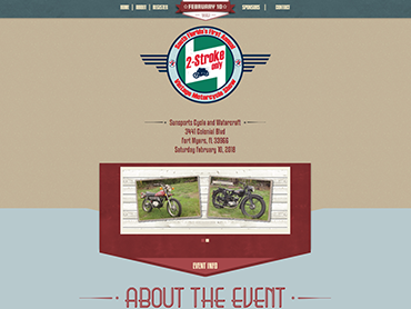 2 Stroke Bike Show Website